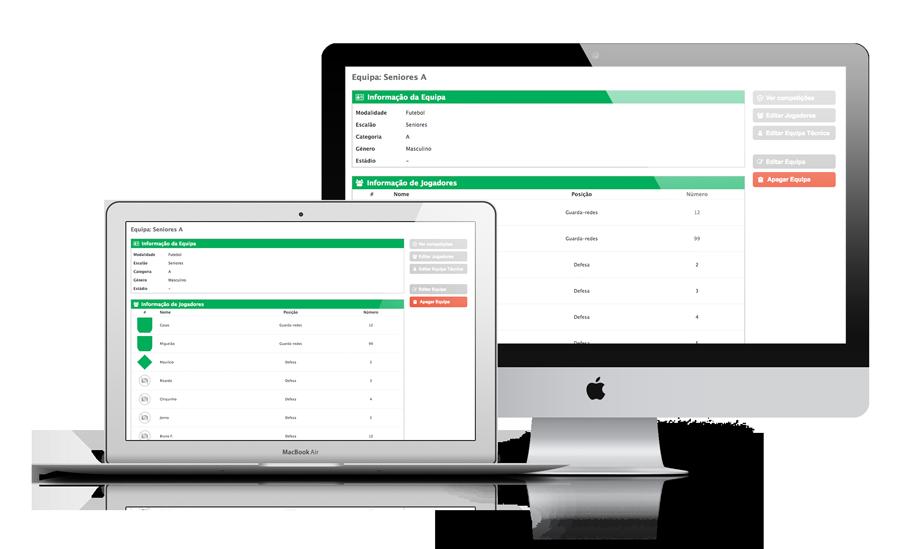 Software gestão de equipas desportivas (futebol, futsal, etc.)
