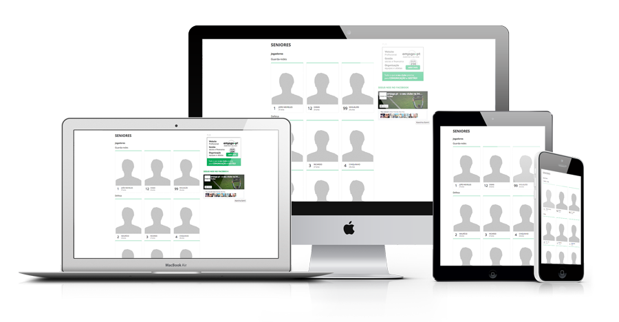 Software gestão de jogadores e equipa técnica