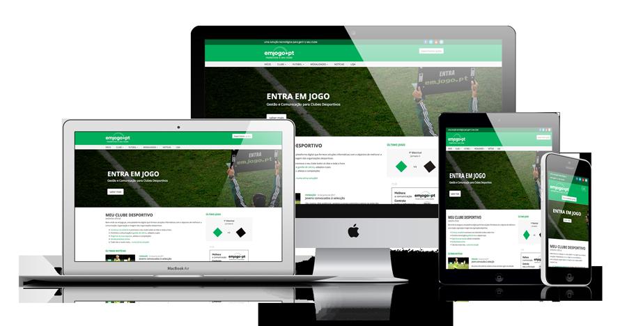 Website grátis para clubes desportivos (Futebol, Futsal, etc.)